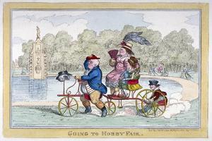 Going to Hobby Fair, 1835 by Isaac Robert Cruikshank