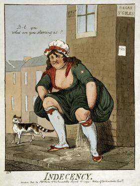 Indecency, 1799 by Isaac Robert Cruikshank