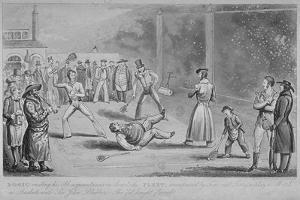 Llustration of a Scene at the Fleet Prison, from Pierce Egan's Life in London, 1820 by Isaac Robert Cruikshank
