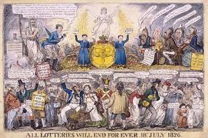 Lotteries, 1826 by Isaac Robert Cruikshank