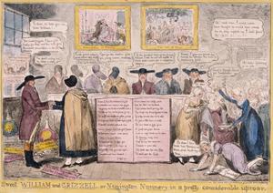 Quaker Uproar, London, 1827 by Isaac Robert Cruikshank