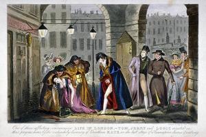 Scene in Covent Garden, Westminster, London, 1830 by Isaac Robert Cruikshank