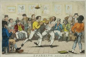 Sparring, 1817 by Isaac Robert Cruikshank