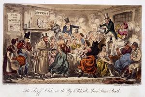 The Buff Club at the Pig and Whistle by Isaac Robert Cruikshank