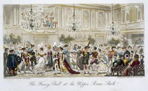 The Fancy Ball at the Upper Rooms, Bath, from The English Spy, by Charles Molloy Westmacott by Isaac Robert Cruikshank
