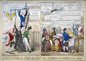 The National Pop-Shop in Threadneedle Street, 1826 by Isaac Robert Cruikshank