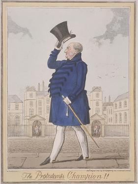 The Protestant's Champion!!, 1825 by Isaac Robert Cruikshank