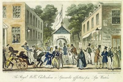 The Royal Wells, Cheltenham, or Spasmodic Affections for Spa Water, 1825