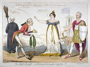 The Secret Insult! or Bribery and Corruption Rejected!!!, 1820 by Isaac Robert Cruikshank