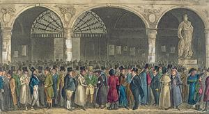 Tom and Jerry Visiting the Stock Exchange, from 'Life in London' by Pierce Egan, 1821 by Isaac Robert Cruikshank