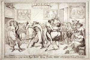 Waltzing! or a Peep into the Royal Brothel, Spring Gardens, London, C1816 by Isaac Robert Cruikshank
