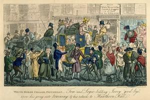 White Horse Cellar, Piccadilly, 1821 by Isaac Robert Cruikshank