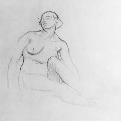 Study of a Nude Woman, 1915 (Charcoal on Paper)