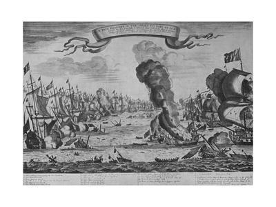 'The Battle of Barfleur', c1695, (1924)