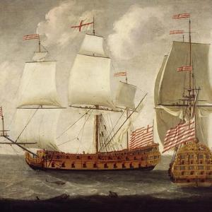 Two Views of East Indiaman of Time of King William Iii, Ca 1685 by Isaac Sailmaker