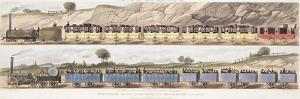 A Train of the First Class of Carriages with the Mail and a Train of the Second Class for Outside P by Isaac Shaw