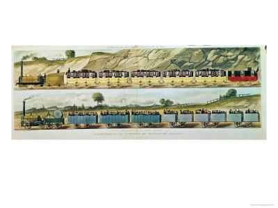 Travelling on Liverpool and Manchester Railway, c.1831