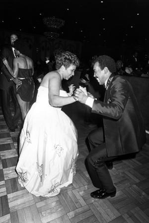 Aretha Franklin, Chuck Jackson 1982 by Isaac Sutton