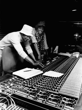 Michael Jackson; Quincy Jones - 1979 by Isaac Sutton