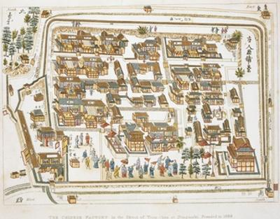 The Chinese Factory in Nagasaki Founded 1688, Book from Illustrations of Japan ... Anecdotes of the
