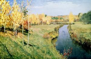 Golden Autumn, 1895 by Isaak Ilyich Levitan