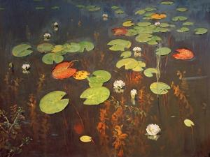 Water Lilies 1895 by Isaak Ilyich Levitan