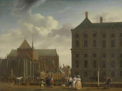 The Nieuwe Kerk and the Town Hall on the Dam in Amsterdam, C.1780-90
