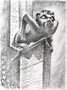 Gargoyle, Thaxted Church, c.1951 by Isabel Alexander