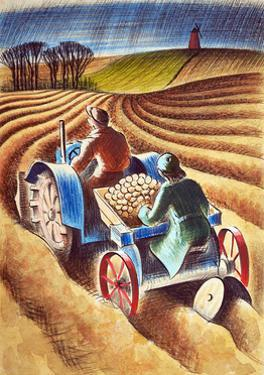 Planting Potatoes, 1953 by Isabel Alexander