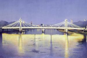 Albert Bridge (Twilight) by Isabel Hutchison