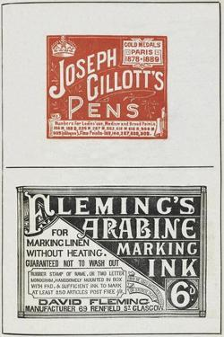 Advertisements For Ink and Writing Pens by Isabella Beeton