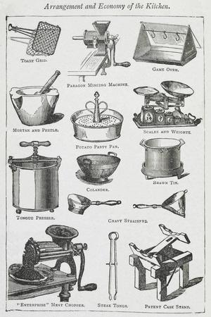 Arrangement and Economy Of the Kitchen. Various Cooking Utensils