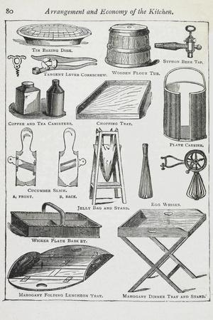 Arrangement and Economy Of the Kitchen. Various Kitchen Utensils