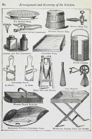 Arrangement and Economy Of the Kitchen. Various Kitchen Utensils by Isabella Beeton