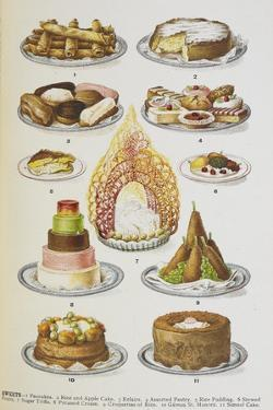 Assorted Cakes and Desserts by Isabella Beeton