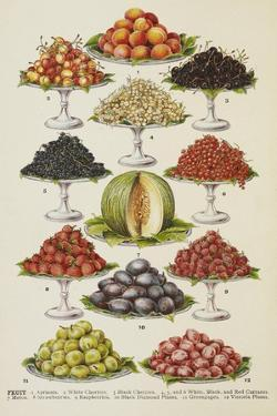 Assorted Fruits Including Melon by Isabella Beeton