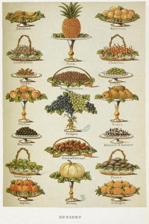 Dessert. Various Fruit Dishes by Isabella Beeton