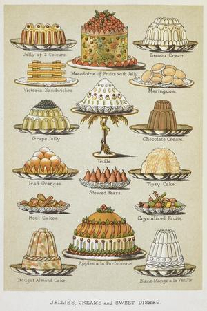 Jellies, Creams and Sweet Dishes