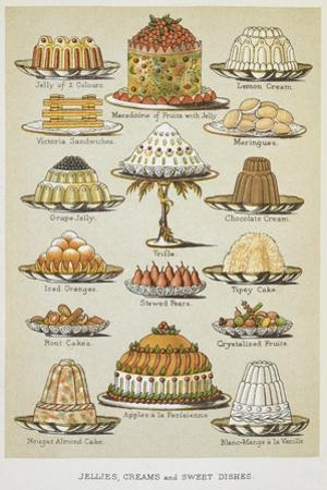 Jellies, Creams and Sweet Dishes by Isabella Beeton
