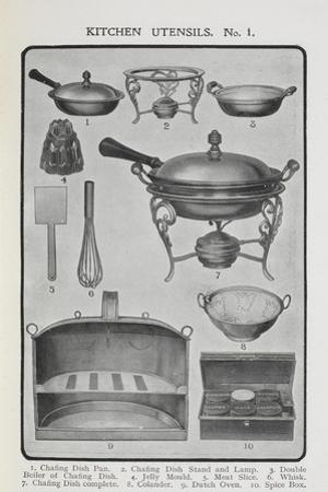 Kitchen Utensils by Isabella Beeton