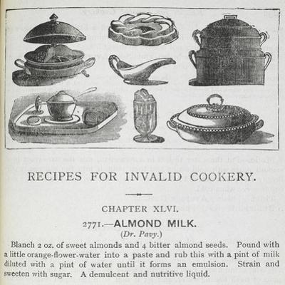 Recipes For Invalid Cookery by Isabella Beeton