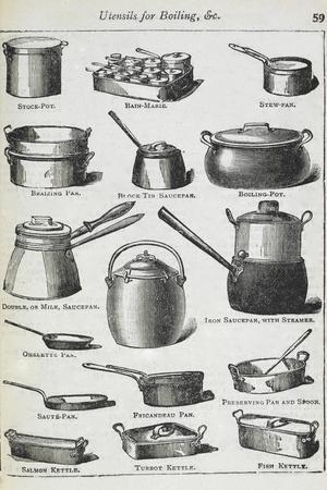 Utensils For Boiling Etc