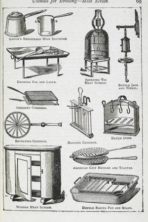 Utensils For Broiling - Meat Screen, Including Various Grills by Isabella Beeton