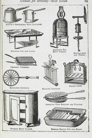 Utensils For Broiling - Meat Screen, Including Various Grills