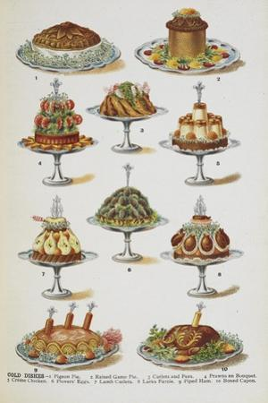 Various Cold Meat Dishes by Isabella Beeton