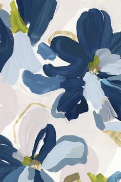 Cobalt Florals I by Isabelle Z