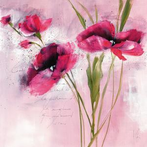 Pink Flower I by Isabelle Zacher-finet
