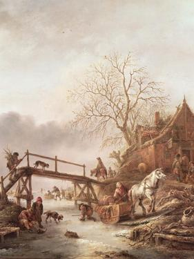 A Winter Scene, 1640 by Isack van Ostade