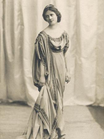 Isadora Duncan American Dancer in a Long Robe