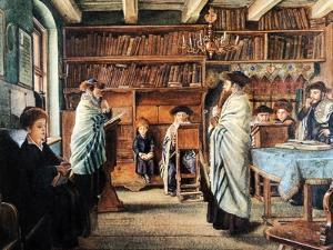 In the Beth Hamidrash by Isidor Kaufmann
